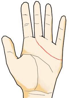 中指と人差し指の間に入る感情線