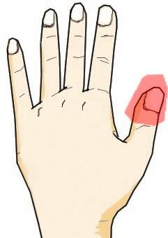 親指の爪に生じる黒点・白点
