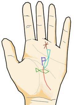 手相と記号と魚紋